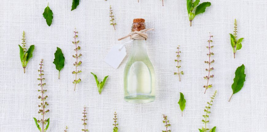 organic herbs and oil
